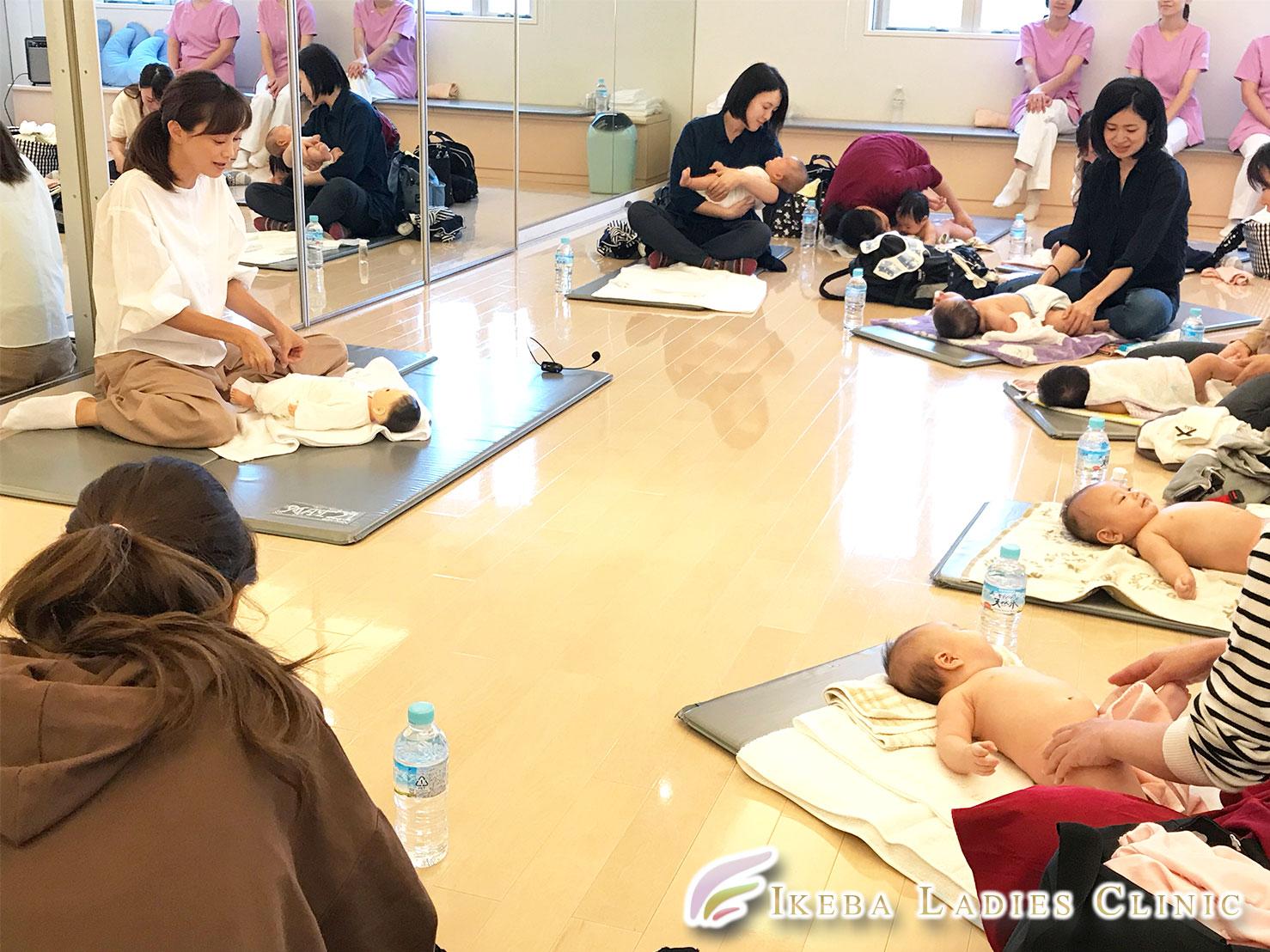 池羽レディースクリニック2019年10月24日開催:ベビーマッサージレッスン&子育て相談会